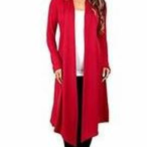 Rags & Couture Women's Knee Length Hacci Cardigan